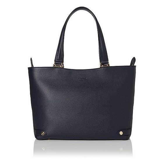 Roberta Blue Leather Tote Bag