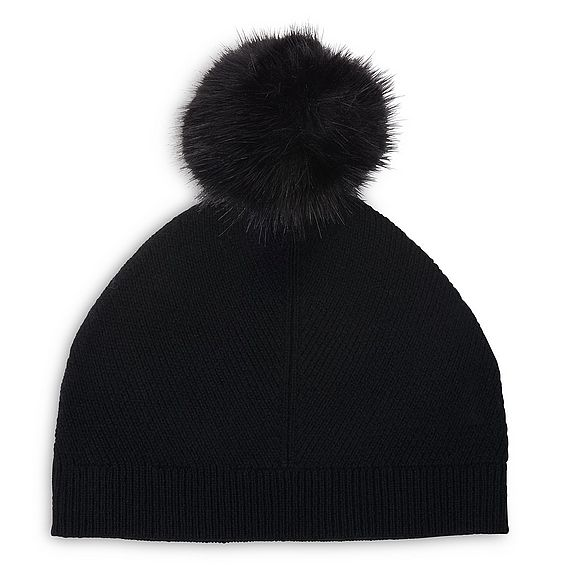 Rosa Black Wool Cashmere Hats