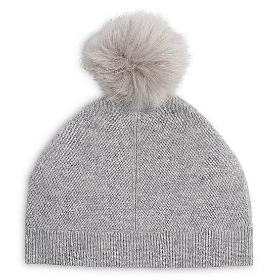 Rosa Grey Cashmere Hat