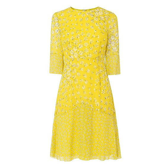 Ros Yellow Silk Dress