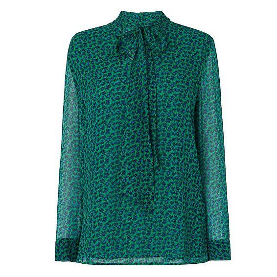 Rudy Green Silk Printed Top