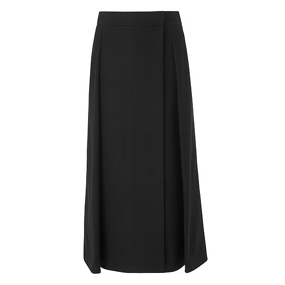 Santana Black Cotton  Skirt