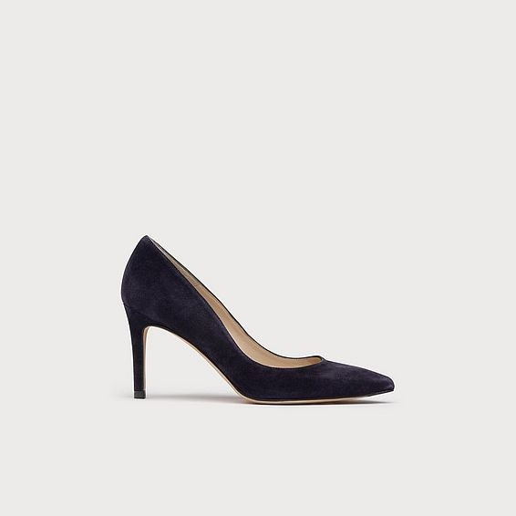 Floret Blue Suede Closed Courts