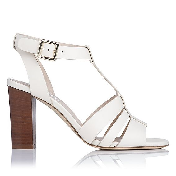 Selena Cream Leather Sandals