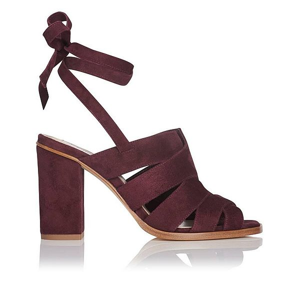 Seline Burgundy Suede Formal Sandals