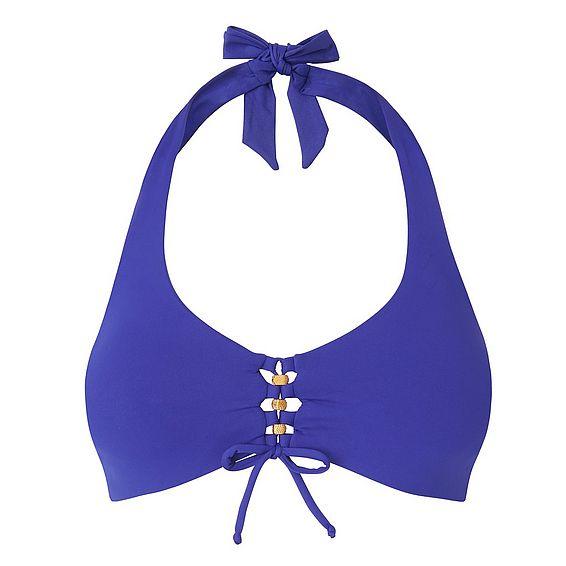 Claudia Blue Halter Underwired Bikini Top