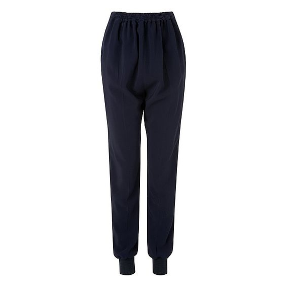 Tess Blue Viscose Trouser