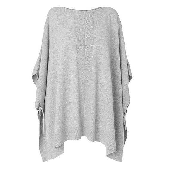 Trenna Grey Melange Wool Cashmere Knitted Top