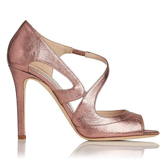 Valentina Pink Metallic Leather Formal Sandal