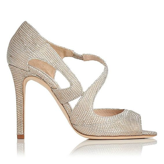 Valentina Gold Metallic Leather Court Shoe