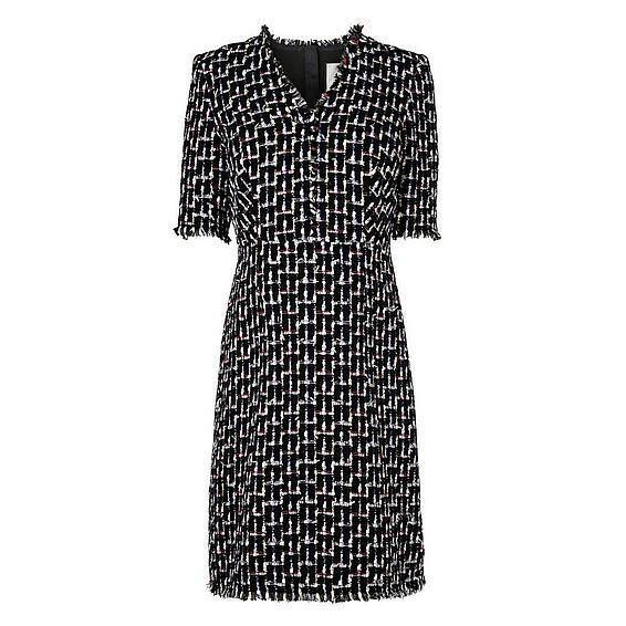 Vetti Black Print Dress