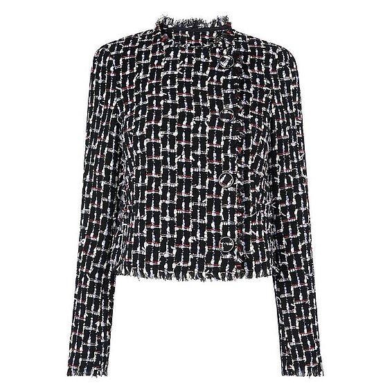Vetti Black Print Jacket