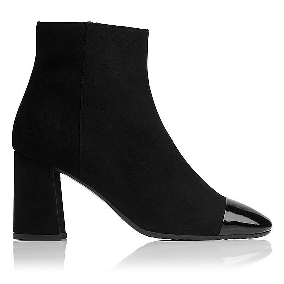 Wyatt Black Suede Ankle Boots