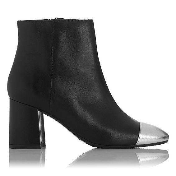 Wyatt Black Nappa Leather Ankle Boots