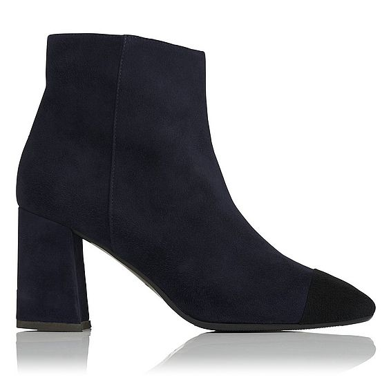 Wyatt Navy Suede Ankle Boots