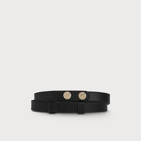 Zahara Black Leather Belt