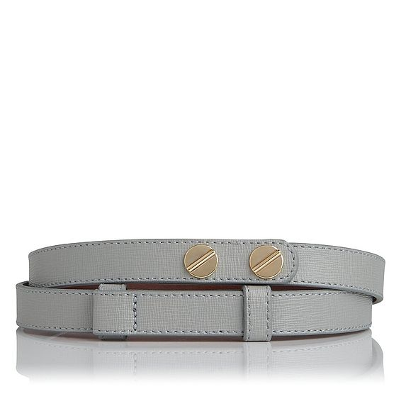 Zahara Grey Leather Belt