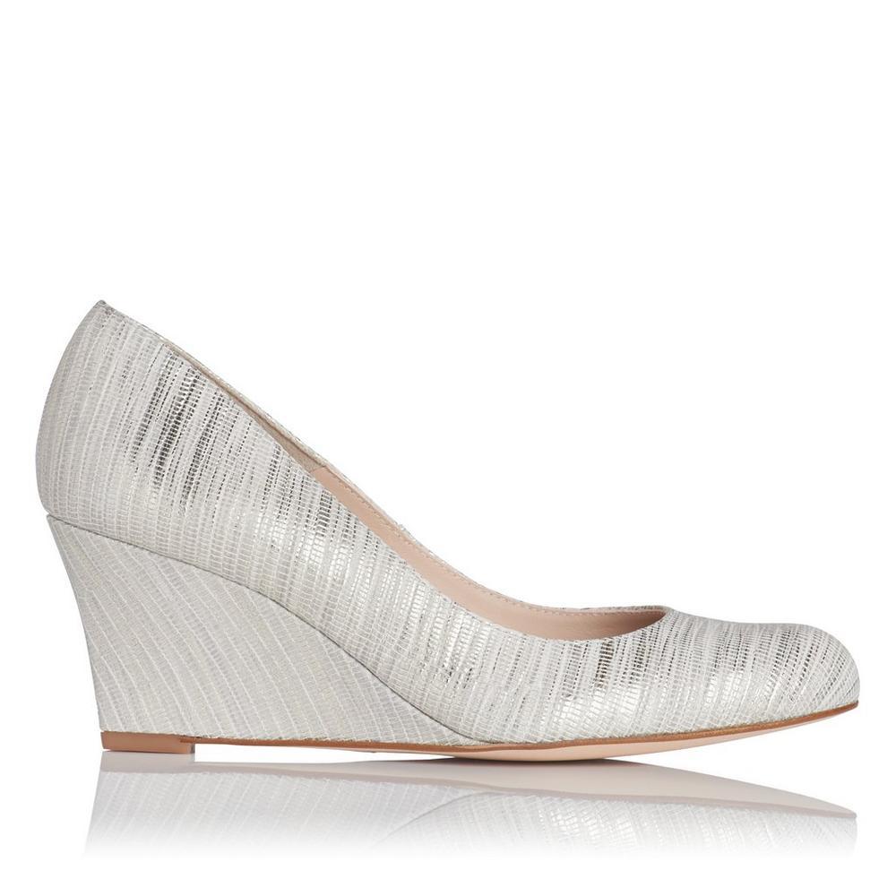 L.K. Bennett Striped Wedge Sandals