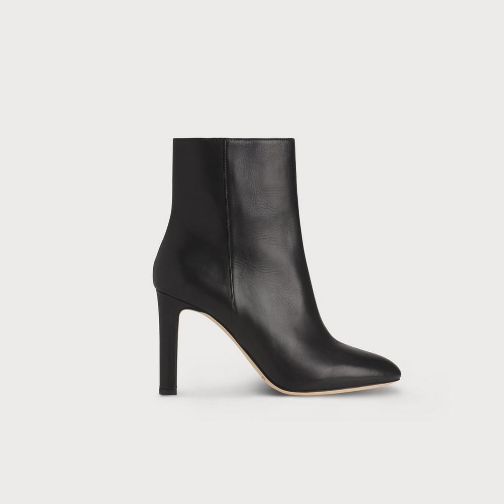 L.K. Bennett Almond Toe Heeled Ankle Boots