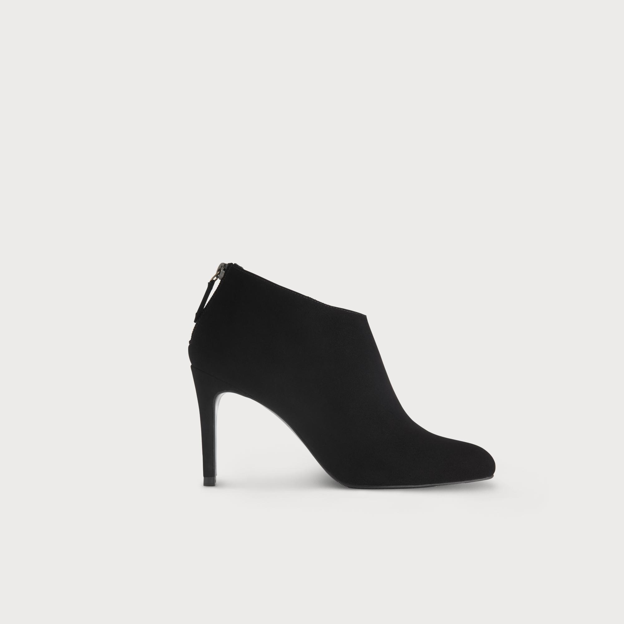 Emily Black Suede Ankle Boots | Shoes