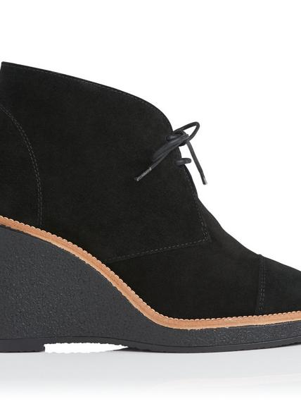 Madi Black Suede Ankle Boots