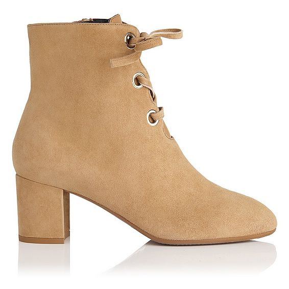 Mollie Camel Suede Ankle Boots