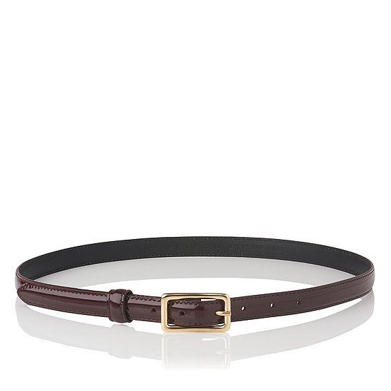 Glenda Oxblood Patent Leather Belt