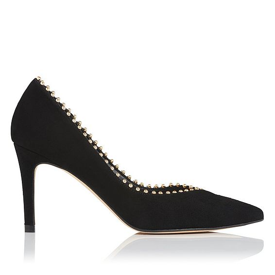 Fifi Black Suede Closed Courts