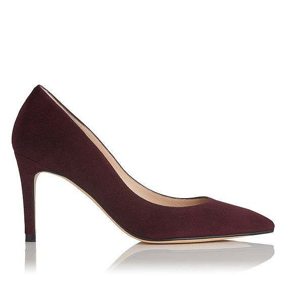 Floret Burgundy Suede Wide Fit Courts