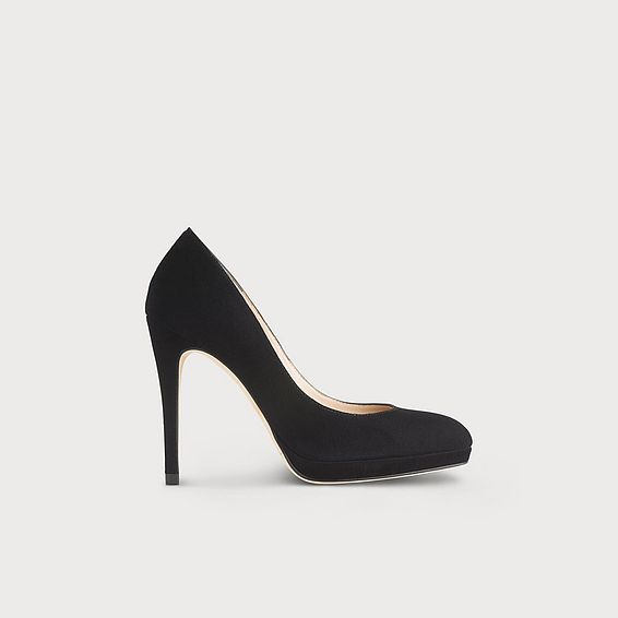 Sledge Black Suede Platform Courts