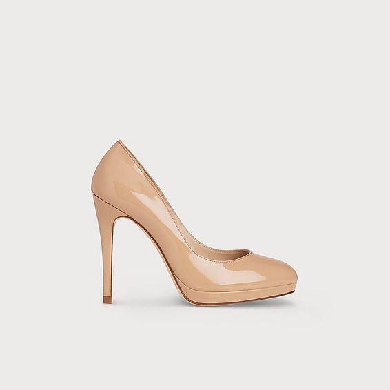 Sledge Trench Patent Leather Platform Courts