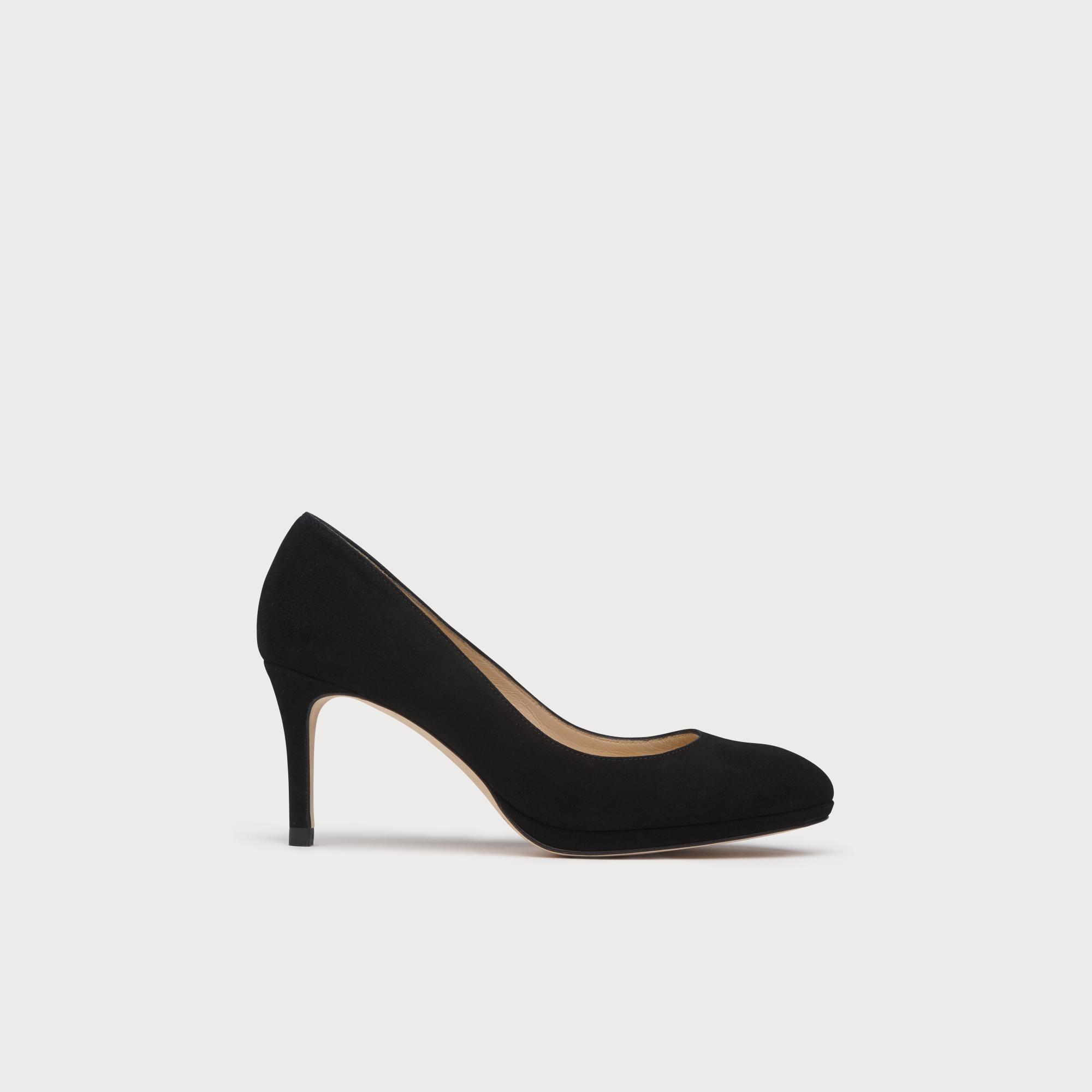 e74c05f6e9 Sybila Black Suede Platform Courts   Shoes   L.K.Bennett