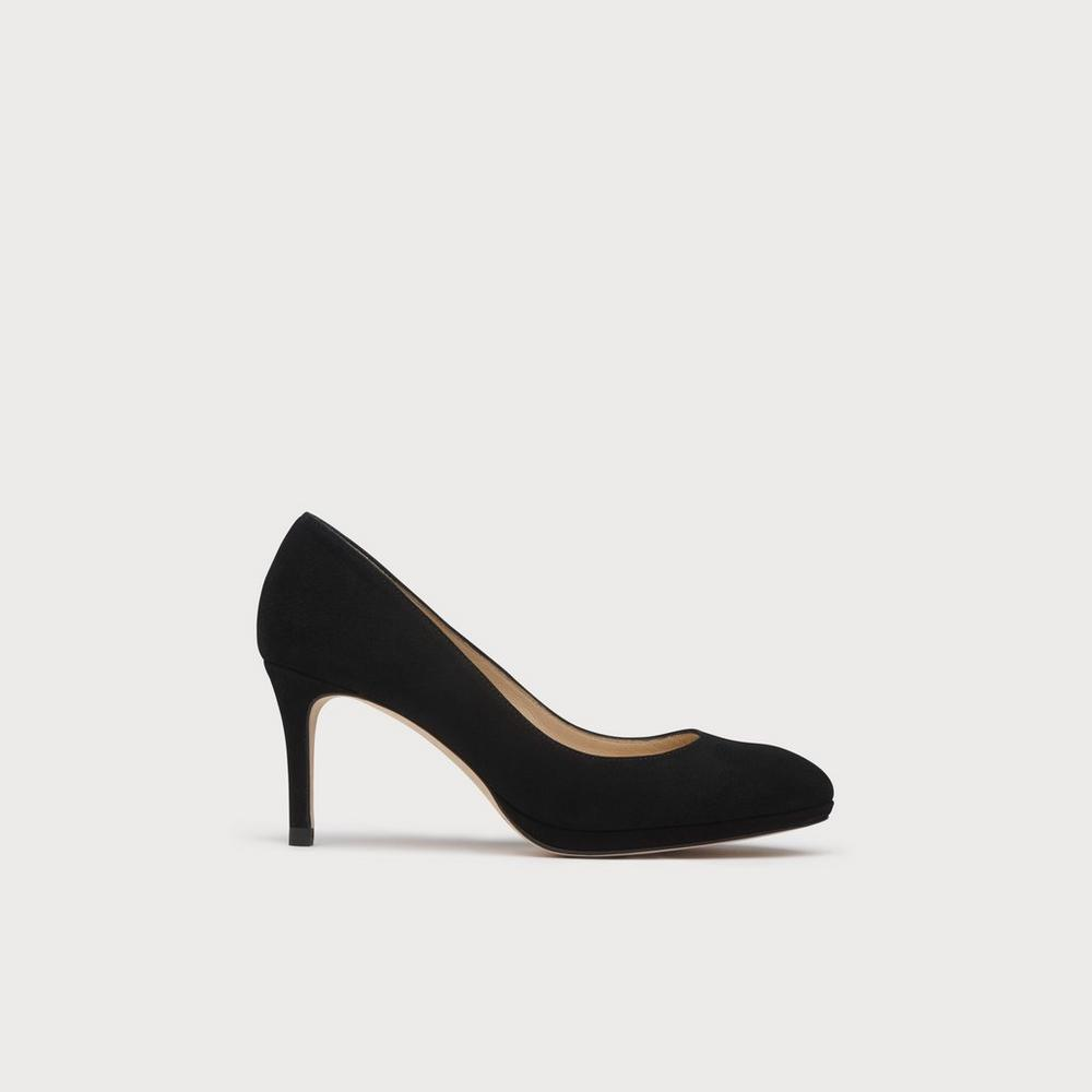 Sybila Black Suede Platform Courts | Shoes | L.K.Bennett