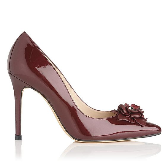 Phoebe Oxblood Patent Leather Courts