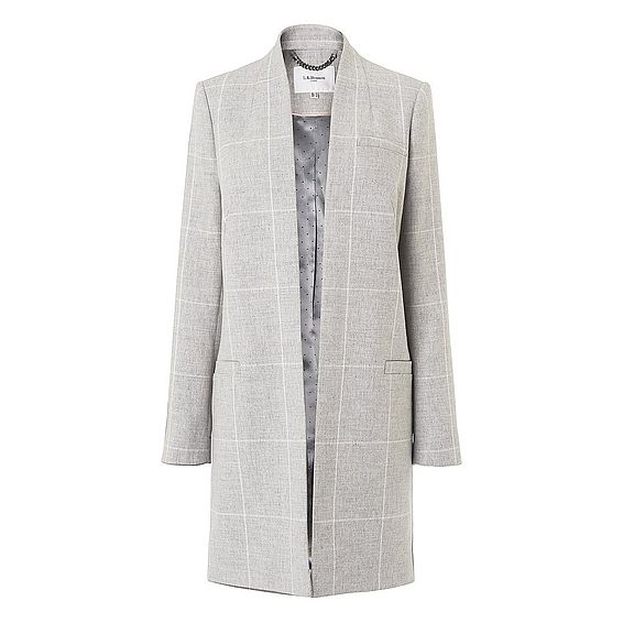 Belize Grey Check Coat