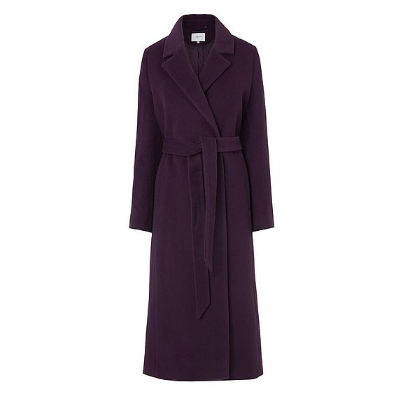 Clara Purple Wool Coat