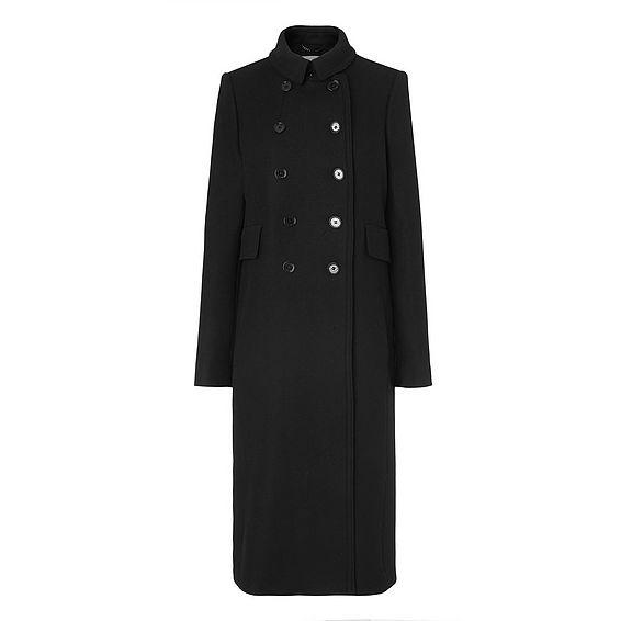 Fellini Black Wool Coat