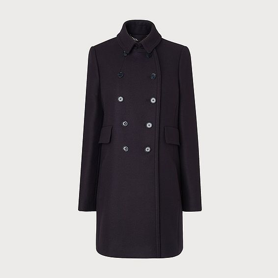 Felli Navy Wool Coat
