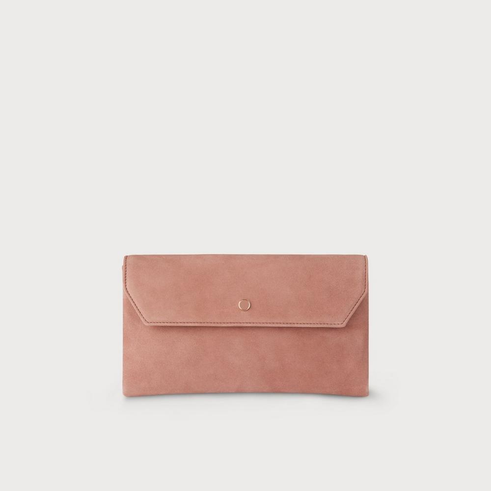 Fresh Dora Dark Pink Suede Clutch | Handbags | L.K.Bennett UT62