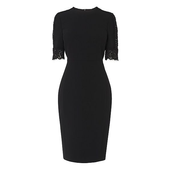 Cerys Black Lace Trim Dress