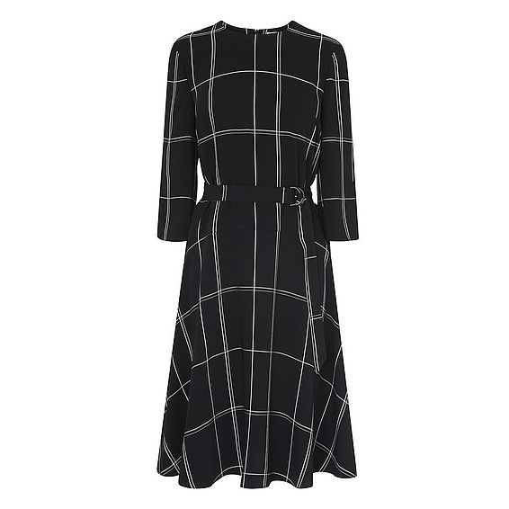Dinah Black Check Dress