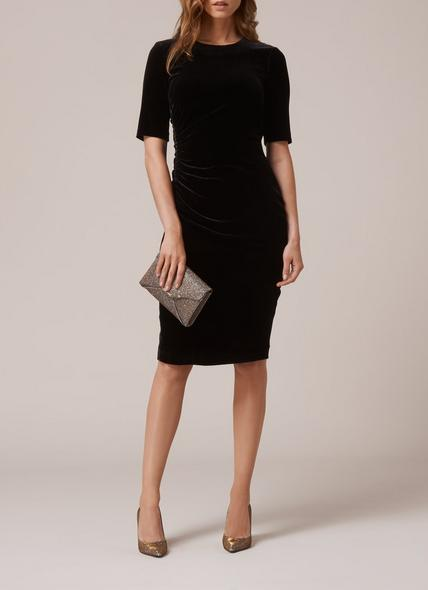 Kara Black Velvet Dress