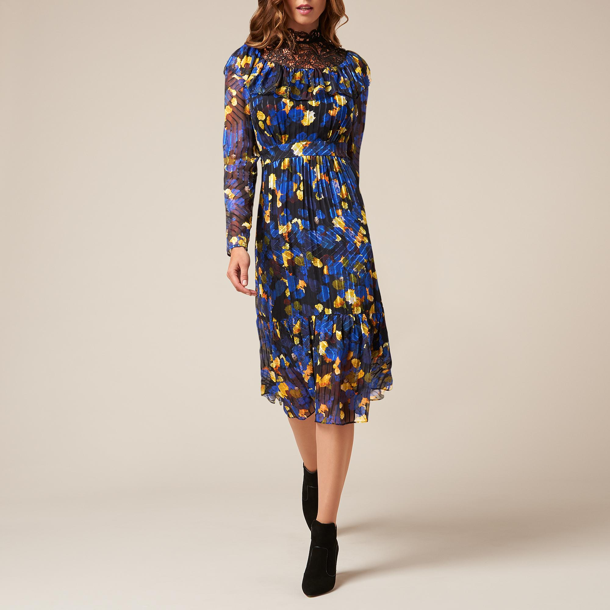 L-K-Bennett-Reed-Blue-Midi-Dress thumbnail 6