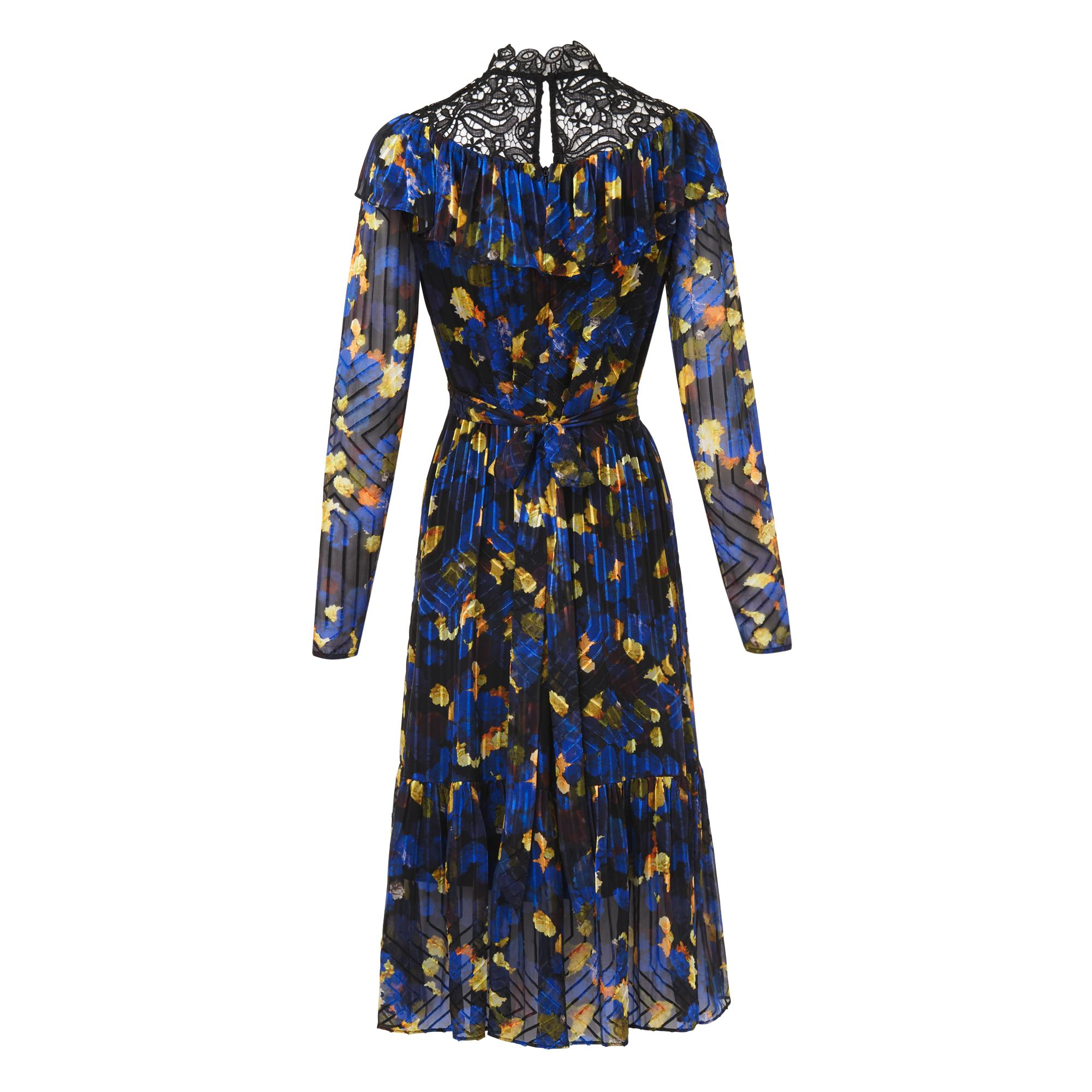 L-K-Bennett-Reed-Blue-Midi-Dress thumbnail 7