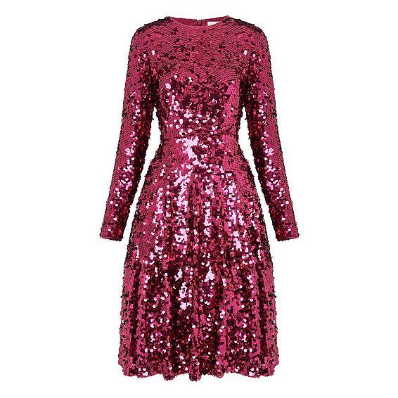 Sonic Dark Pink Sequin Dress