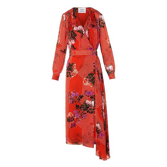 Vali Rose Silk Dress