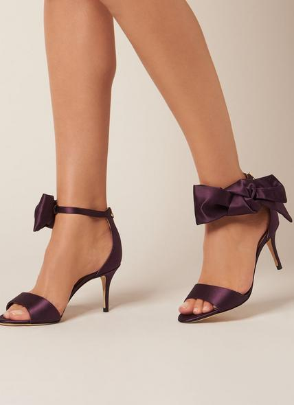 Agata Loganberry Satin Formal Sandals