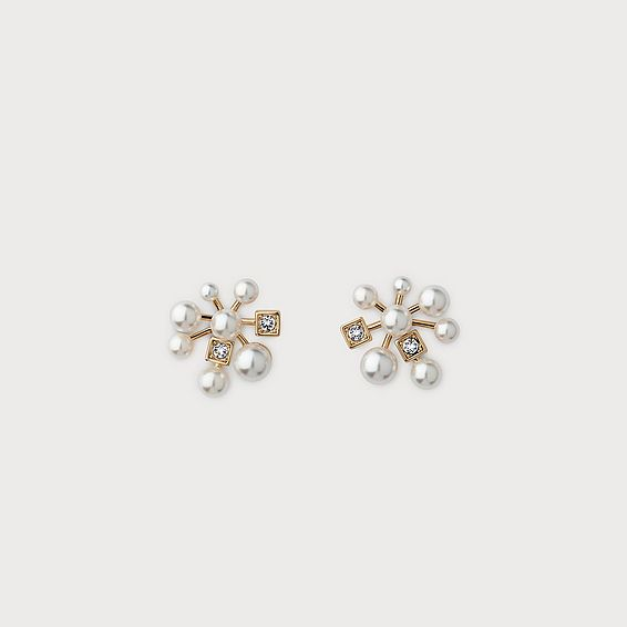 Carolina White Gold Crystal Earrings