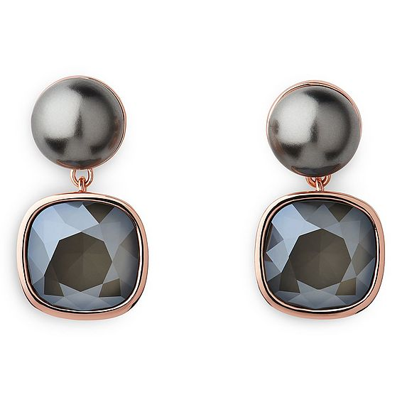 Evanna Dark Grey Pearl Earrings
