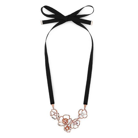 Florrie Rose Gold Ribbon Necklace